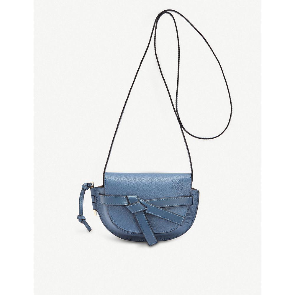 ロエベ loewe レディース バッグ ショルダーバッグ【gate small leather shoulder bag】Varsity blue/indigo