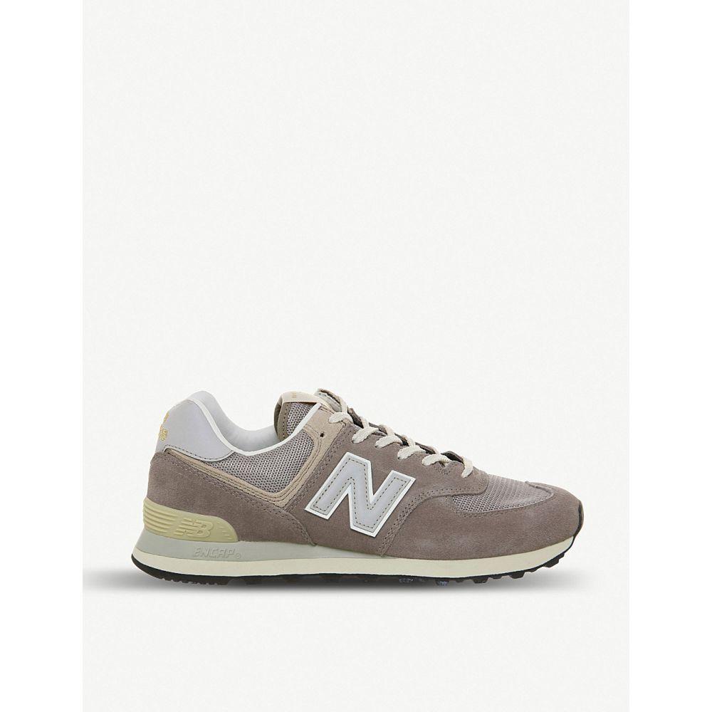 ニューバランス new balance メンズ シューズ・靴 スニーカー【574 suede and mesh trainers】Steel grey