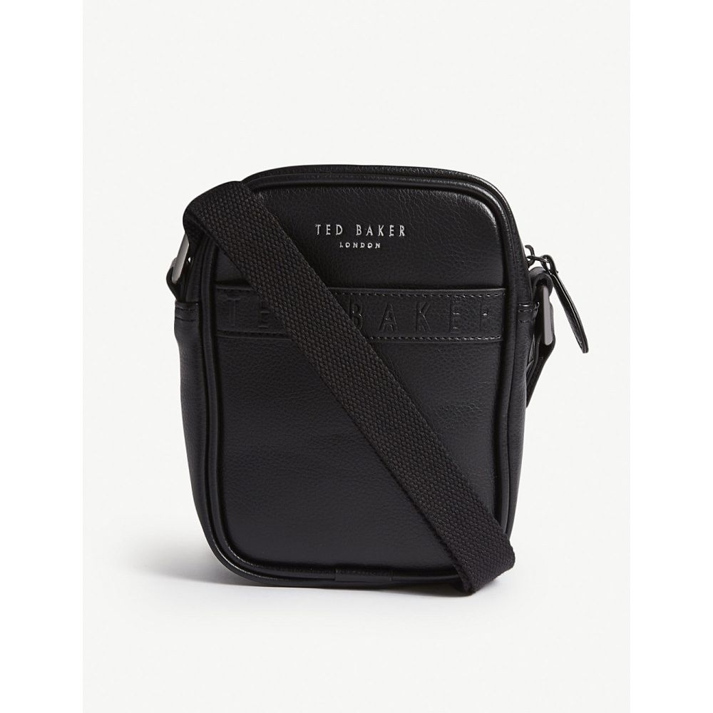 テッドベーカー ted baker メンズ バッグ【logo leather bag】Black