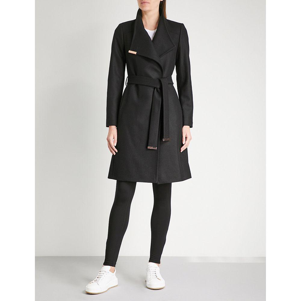 テッドベーカー ted baker レディース アウター コート【sandra wool-blend wrap coat】Black