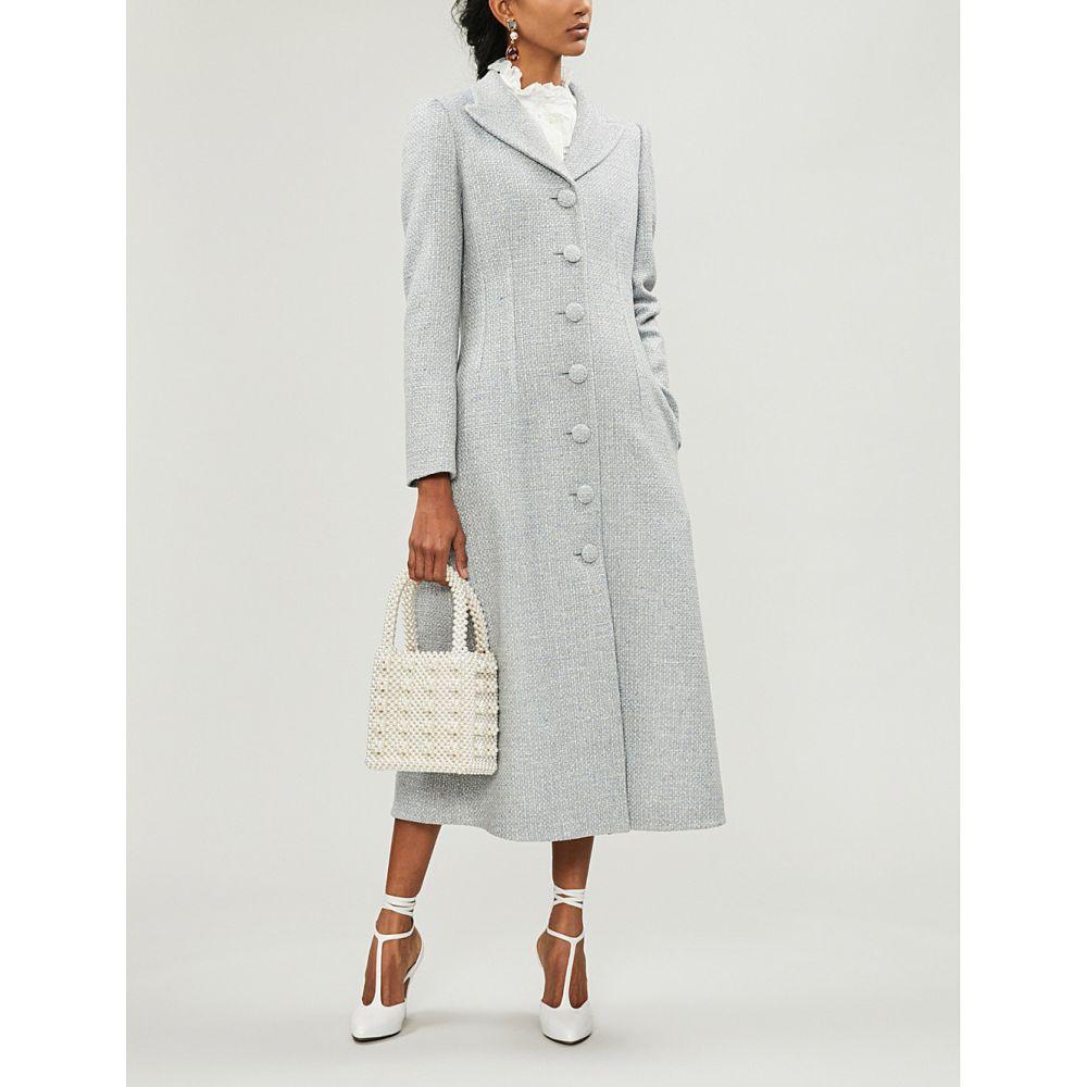 ブロック コレクション brock collection レディース アウター コート【flared wool, silk and cashmere-blend coat】Light pastel bl