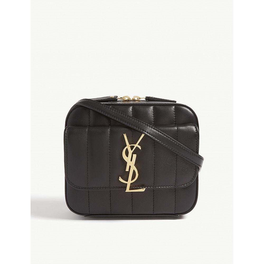 イヴ サンローラン saint laurent レディース バッグ【vicky quilted leather camera bag】Black