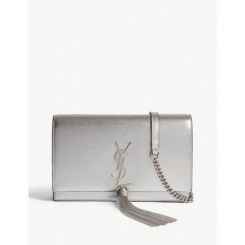 イヴ サンローラン saint laurent レディース バッグ ショルダーバッグ【kate monogram metallic leather wallet-on-chain】Platine