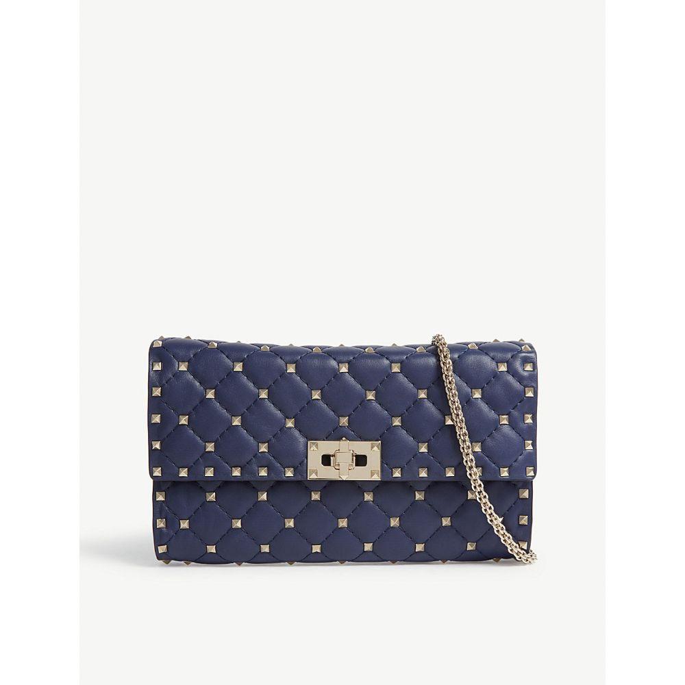 ヴァレンティノ valentino レディース バッグ ショルダーバッグ【rockstud quilted leather cross-body bag】Pure blue