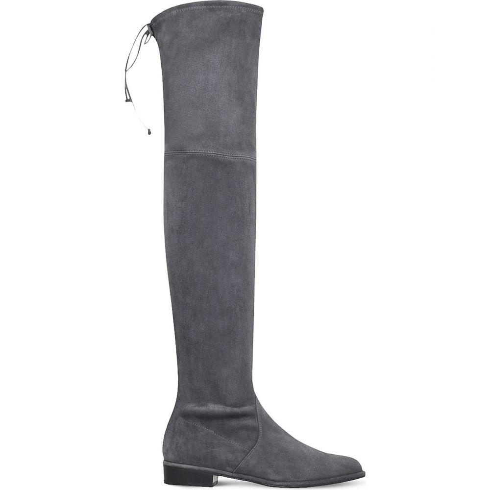 スチュアート ワイツマン stuart weitzman レディース シューズ・靴 ブーツ【lowland suede thigh boots】Grey/dark