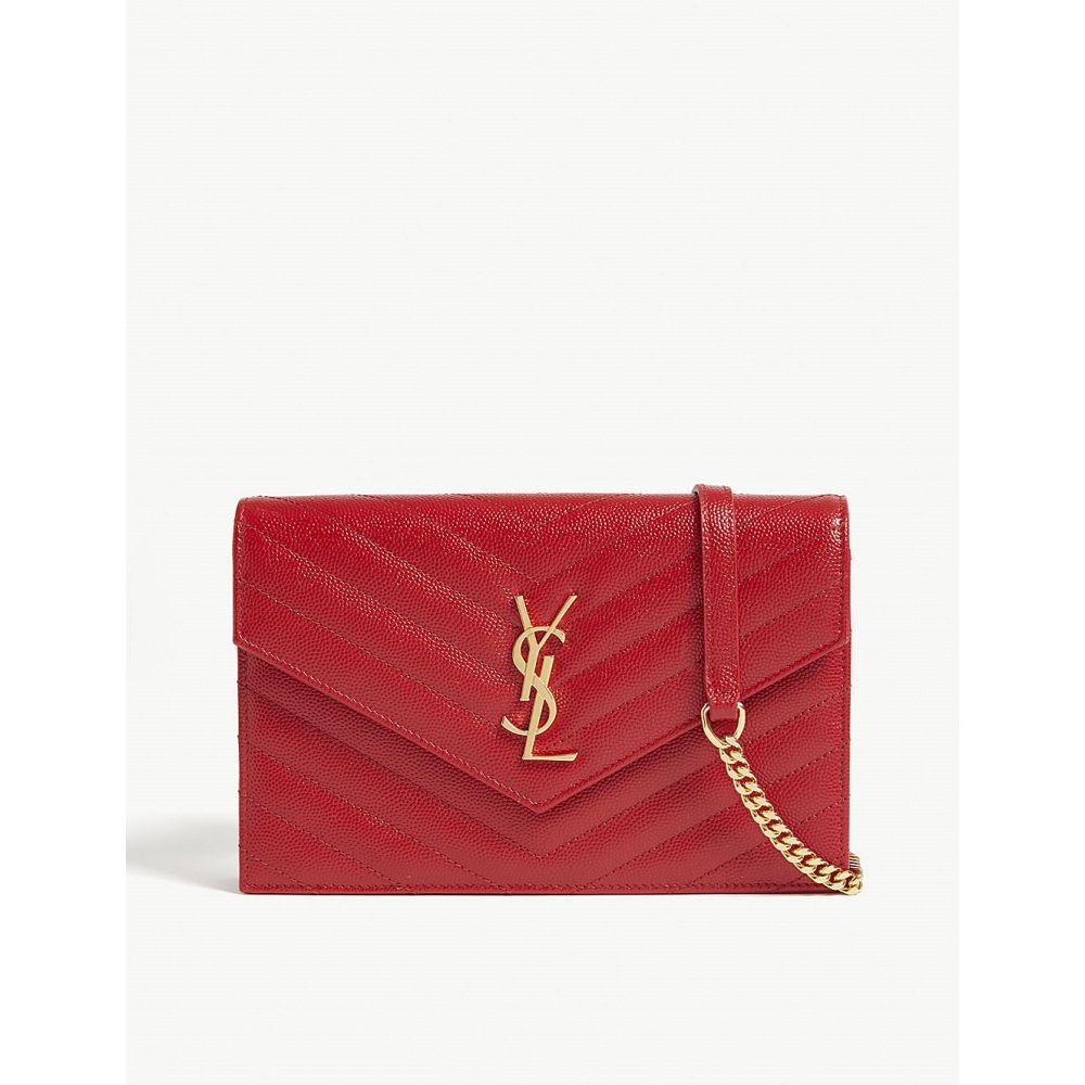 イヴ サンローラン saint laurent レディース バッグ ショルダーバッグ【monogram quilted leather wallet-on-chain】Bandana red