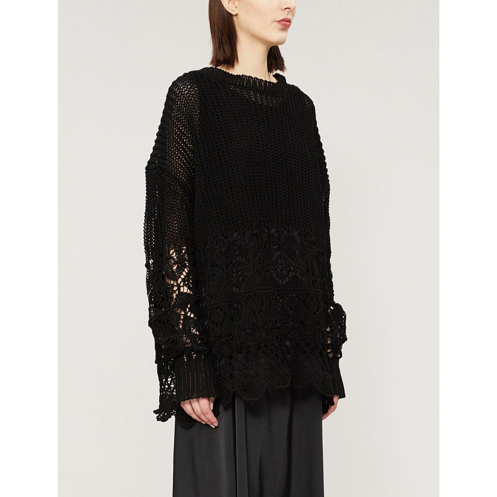 ジル サンダー jil sander レディース トップス ニット・セーター【open-knit cotton jumper】Black