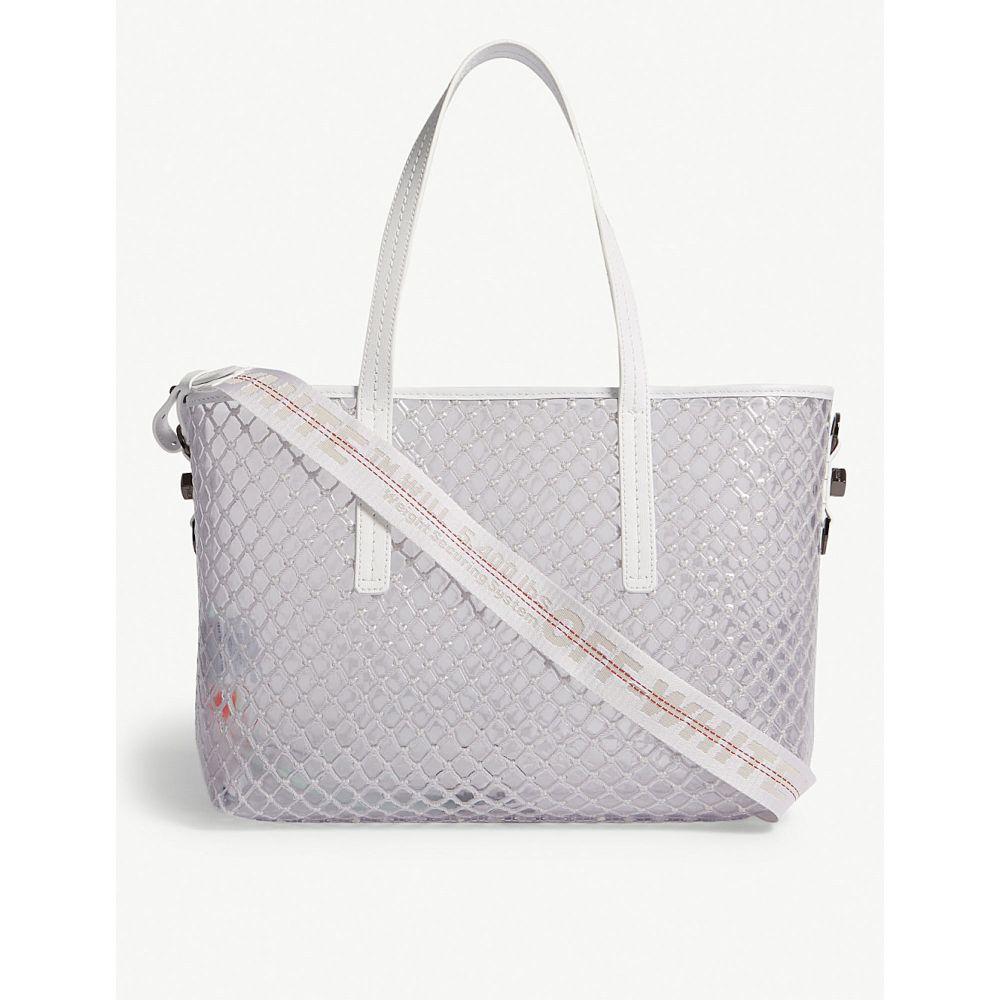 オフホワイト off-white c/o virgil abloh レディース バッグ トートバッグ【pvc tote bag】White