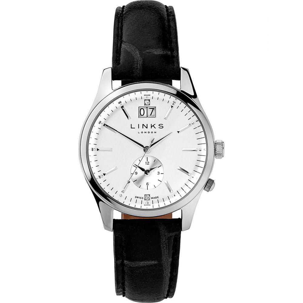 リンクス オブ ロンドン links of london レディース 腕時計【6010.1459 regent stainless steel and leather watch】Black