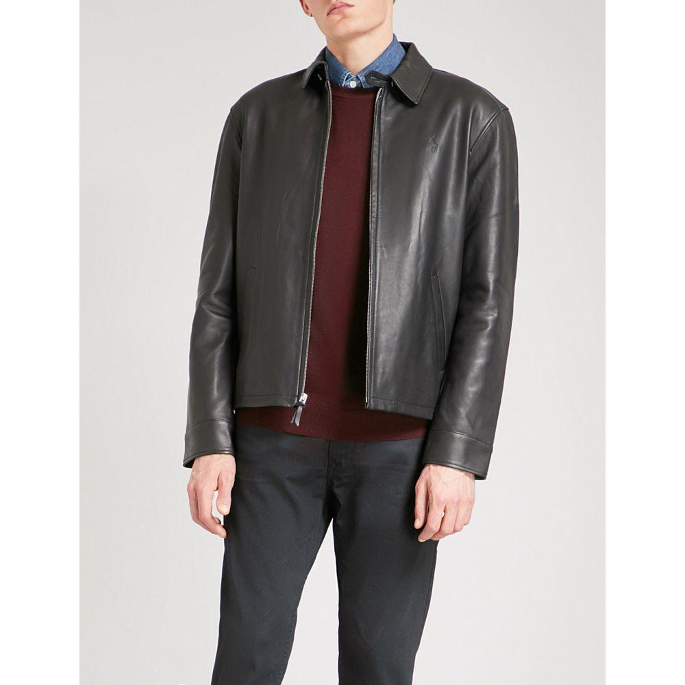 ラルフ ローレン polo ralph lauren メンズ アウター レザージャケット【maxwell leather jacket】Polo black