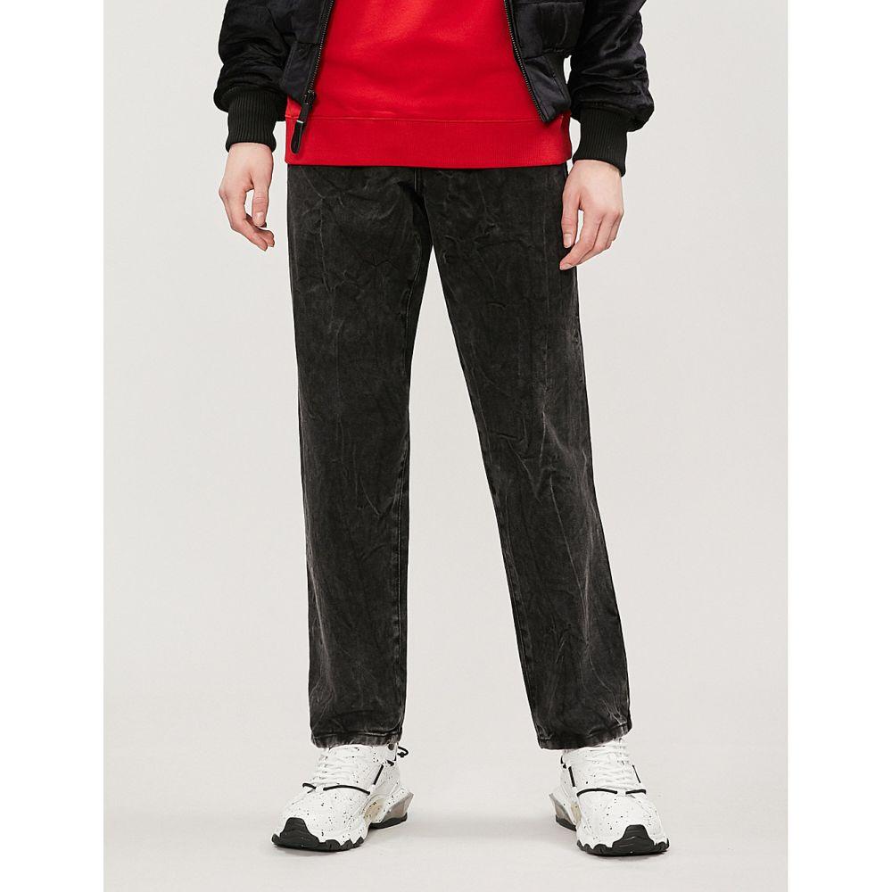 ジバンシー givenchy メンズ ボトムス・パンツ ジーンズ・デニム【distressed regular-fit straight jeans】Dark grey
