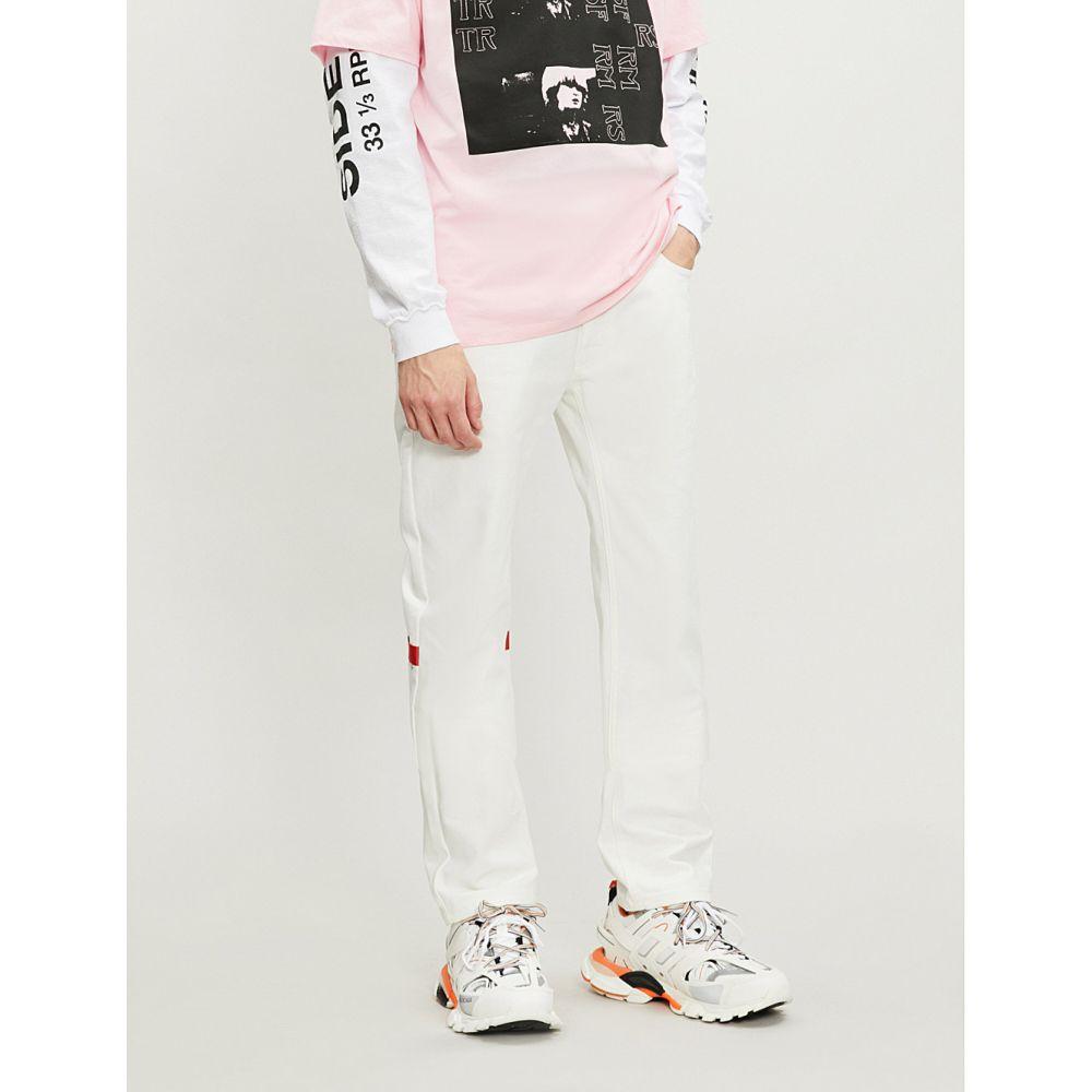 ラフ シモンズ raf simons メンズ ボトムス・パンツ ジーンズ・デニム【slogan-patch regular-fit straight jeans】Cream