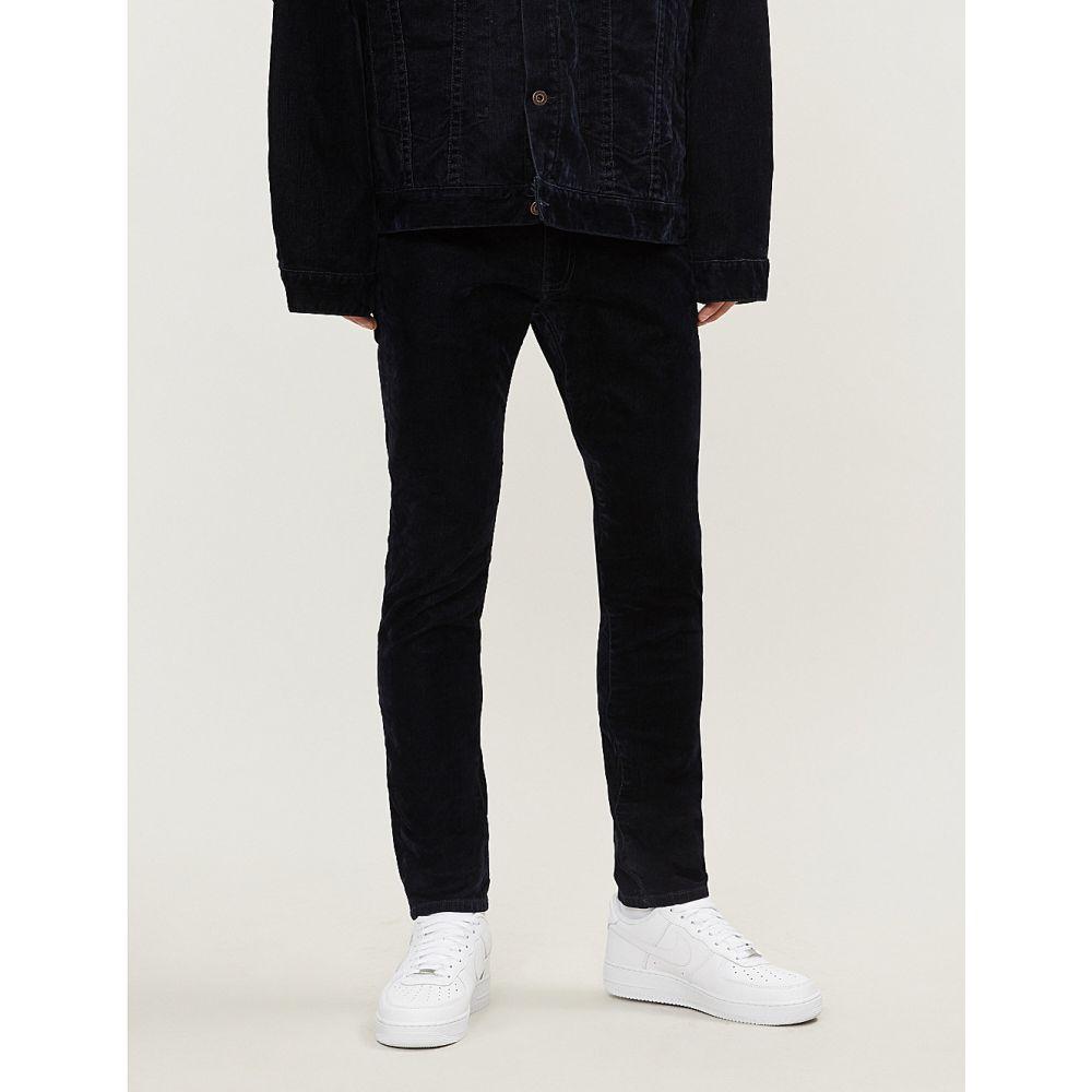 オフホワイト off-white c/o virgil abloh メンズ ボトムス・パンツ ジーンズ・デニム【slim-fit straight velvet jeans】Blue