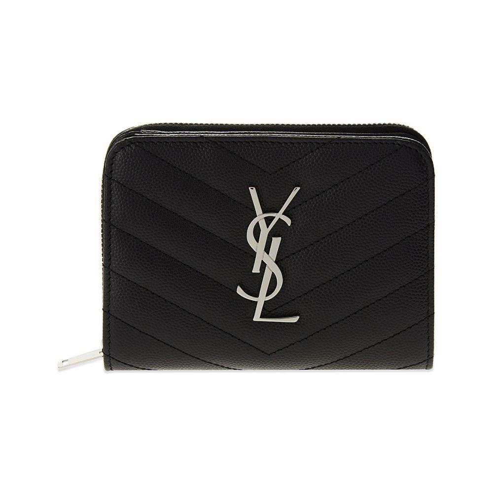 イヴ サンローラン saint laurent レディース 財布【monogram quilted leather purse】Black