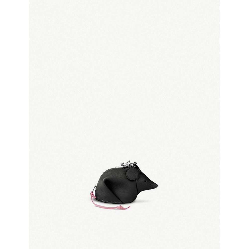ロエベ loewe レディース キーホルダー【mouse leather charm 10.5cm】Black/candy