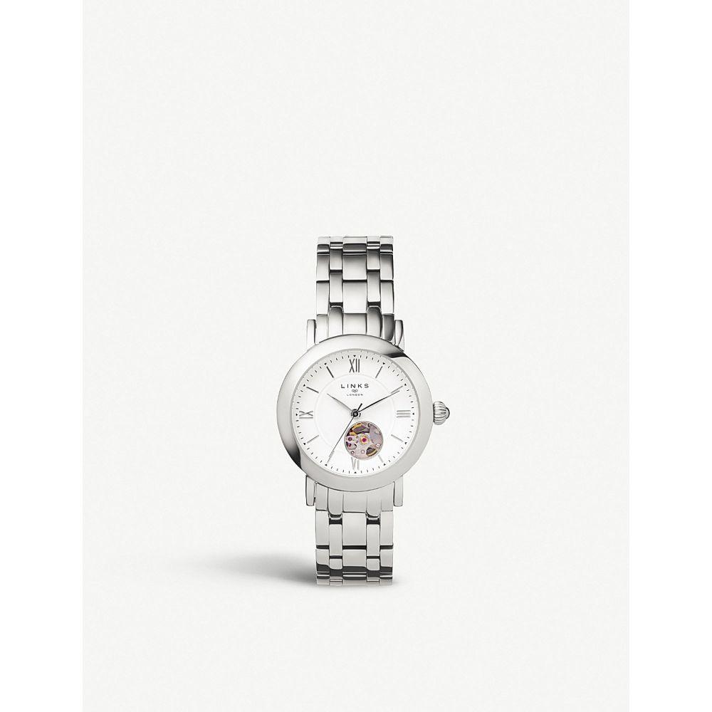 リンクス オブ ロンドン links of london レディース 腕時計【60102696 noble stainless steel chronograph watch】Silver
