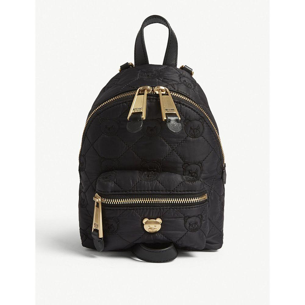 モスキーノ moschino レディース バッグ バックパック・リュック【mini quilted toy bear backpack】Black