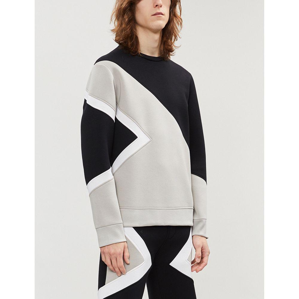 ニール バレット neil barrett メンズ トップス スウェット・トレーナー【modernist printed jersey sweatshirt】Blk sto off white