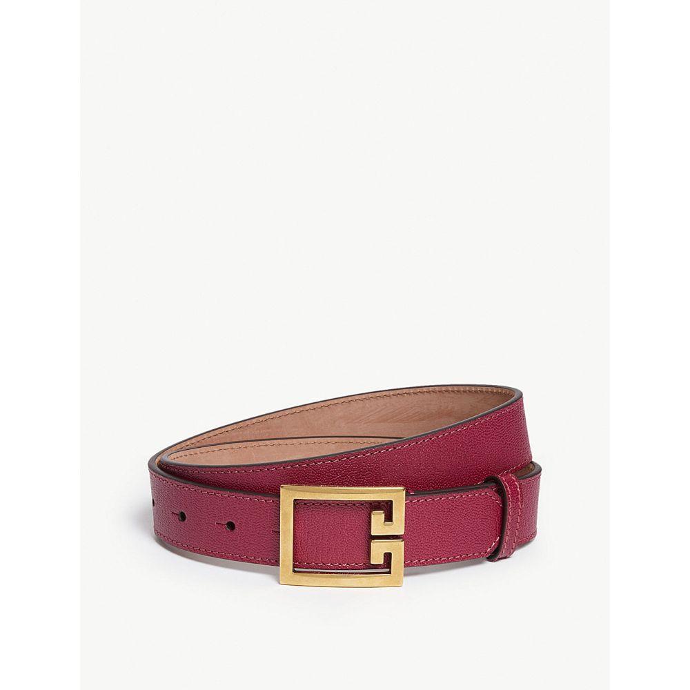 ジバンシー givenchy レディース ベルト【leather belt】Aubergine