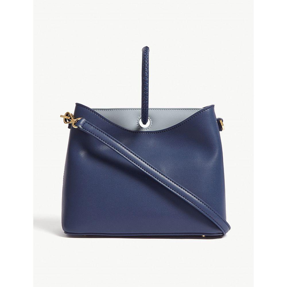 エルメ elleme レディース バッグ ショルダーバッグ【simone leather shoulder bag】Navyblue/greyblue