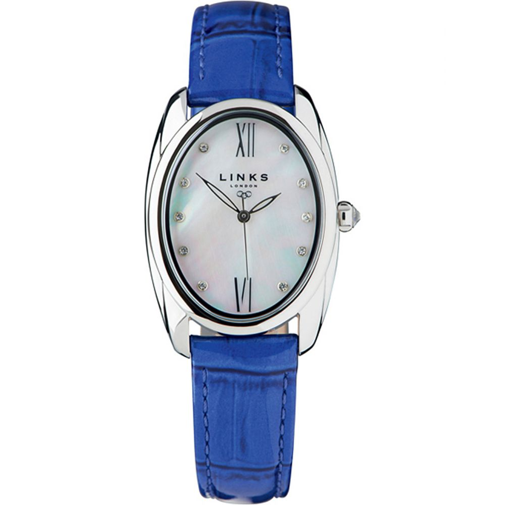リンクス オブ ロンドン links of london レディース 腕時計【60101315 bloomsbury stainless steel and leather watch】Blue