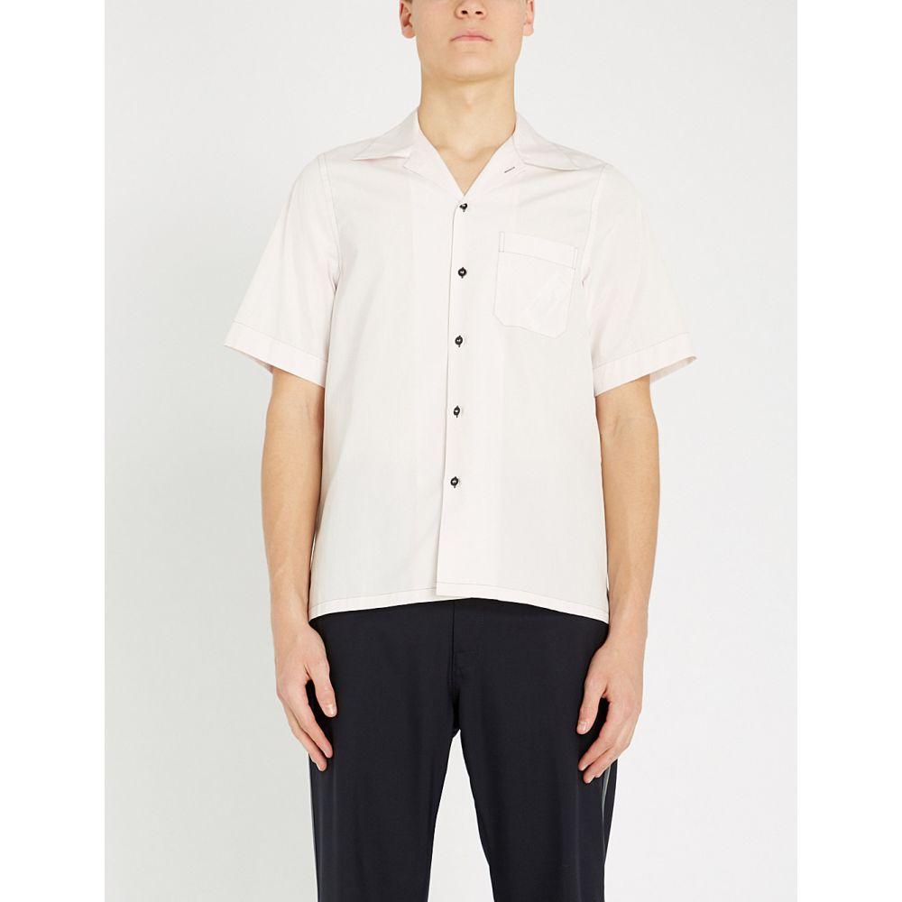 マルニ marni メンズ トップス 半袖シャツ【regular-fit cotton-poplin bowling shirt】Pink