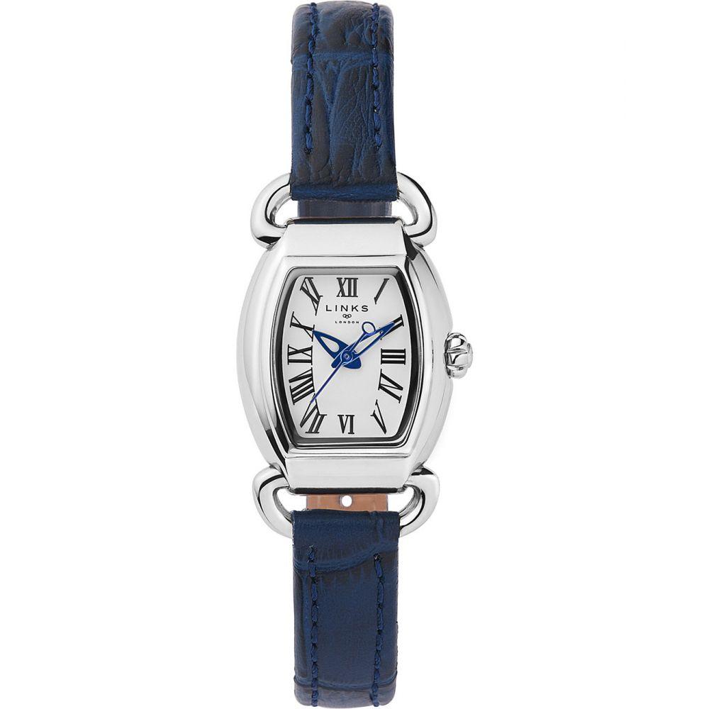 リンクス オブ ロンドン links of london レディース 腕時計【6010.2158 driver mini tonneau stainless steel and leather watch】Blue