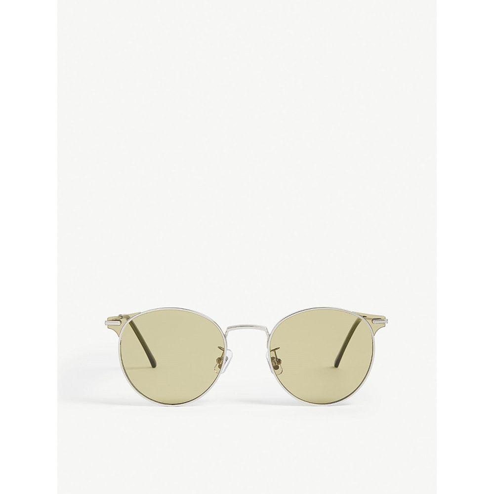 ジェントルモンスター gentle monster レディース メガネ・サングラス【moor 02 round-frame sunglasses】Silver olive