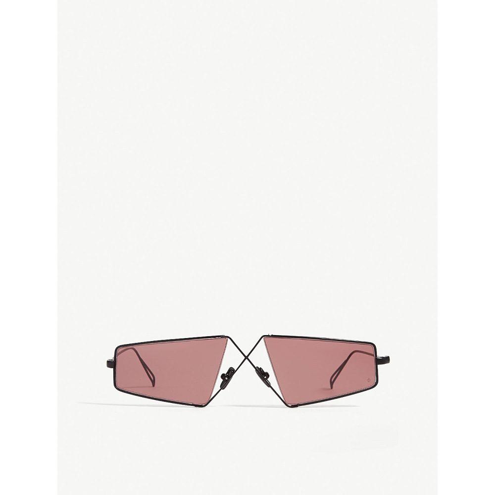 ネイチャーオブリアリティー nature of reality (nor) レディース メガネ・サングラス【irregular-frame cross-bridge sunglasses】Black