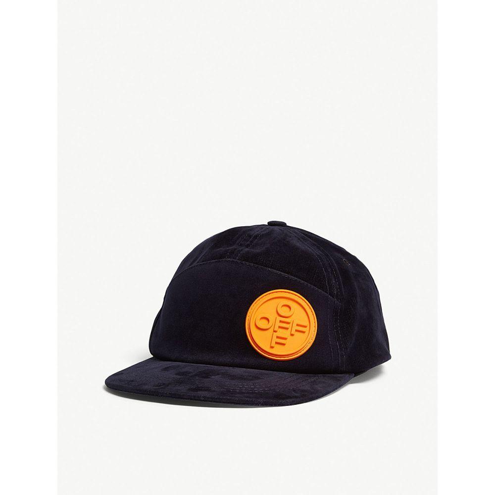 オフホワイト off-white c/o virgil abloh メンズ 帽子 キャップ【velvet snapback cap】Blue