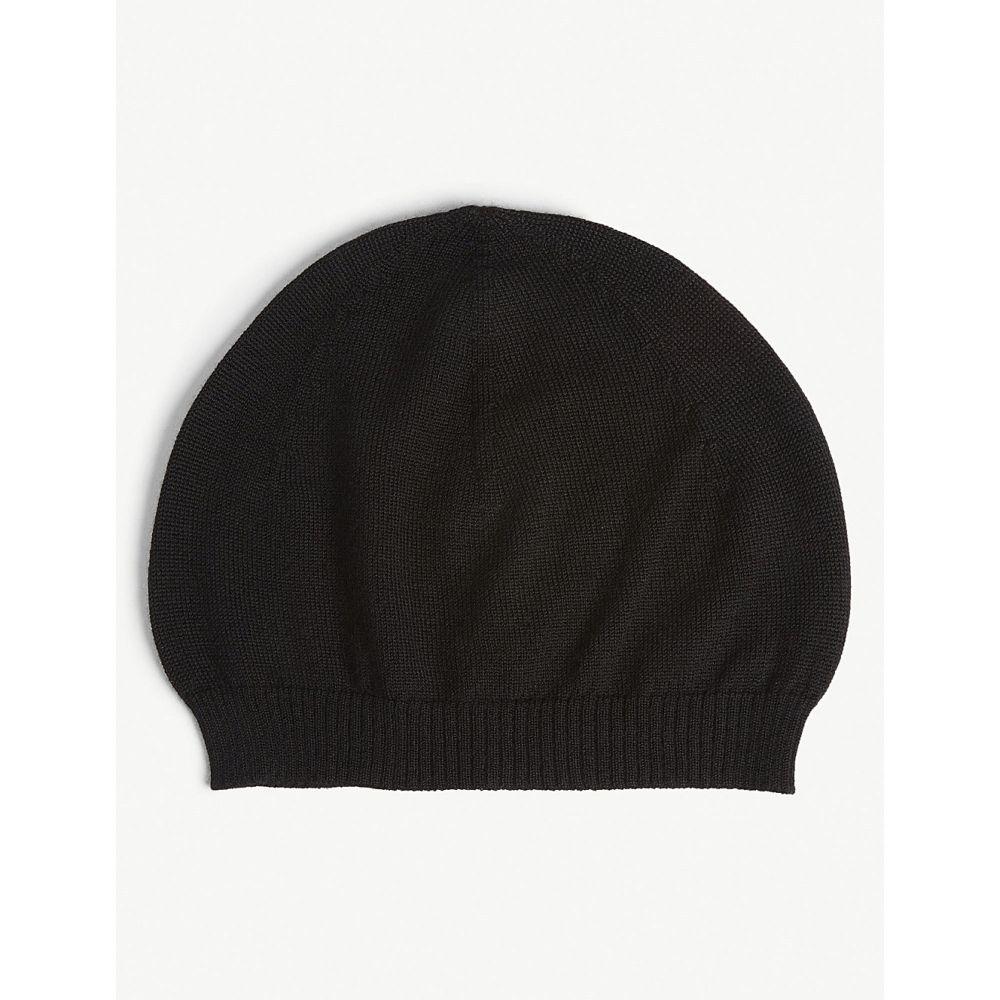 リック オウエンス rick owens メンズ 帽子 ニット【plain cashmere beanie】Black