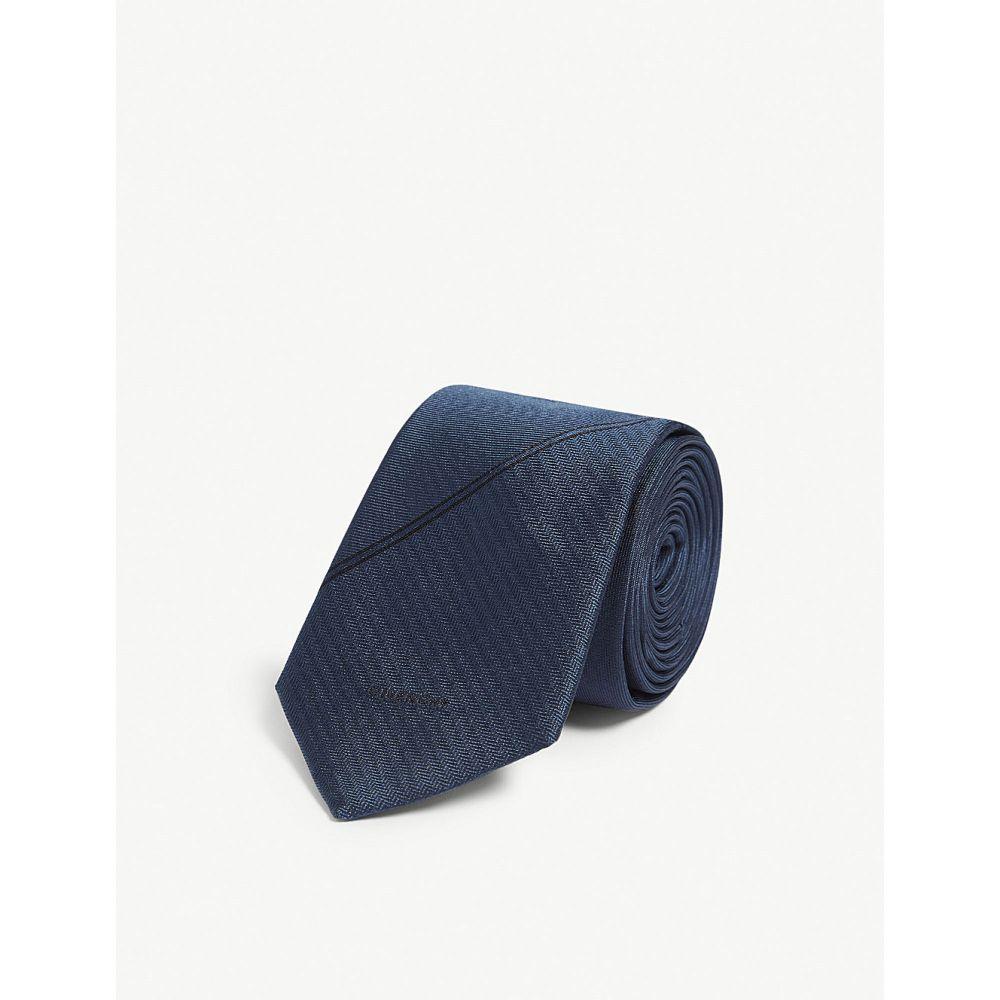 ジバンシー givenchy メンズ ネクタイ【silk tie】Navy
