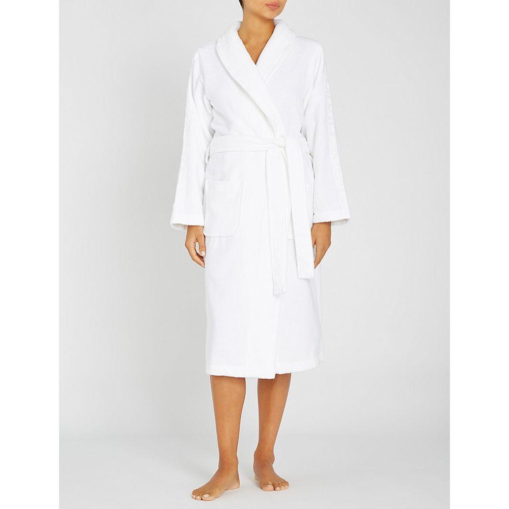 カルバンクライン calvin klein レディース インナー・下着 ガウン・バスローブ【logo tape cotton-terrycloth dressing gown】White