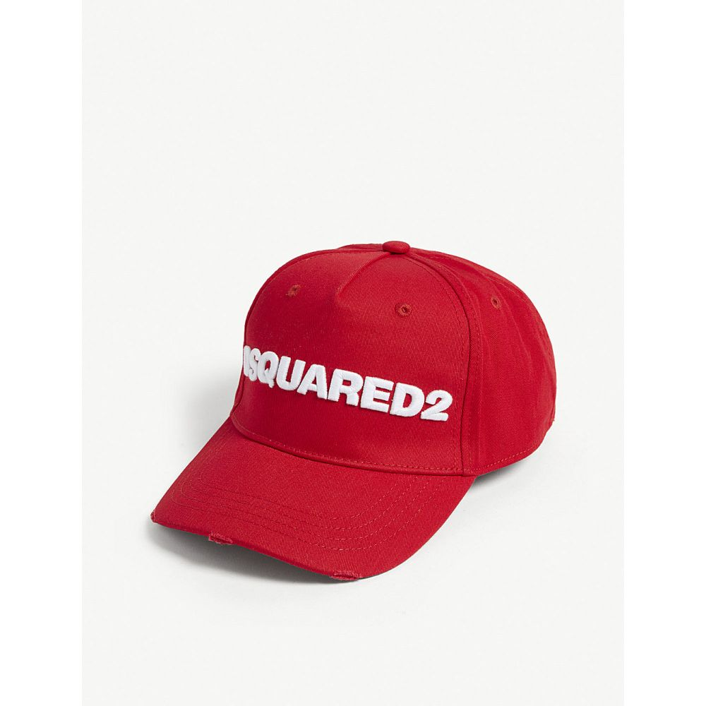 ディースクエアード dsquared2 メンズ 帽子 キャップ【logo cotton baseball cap】Red white