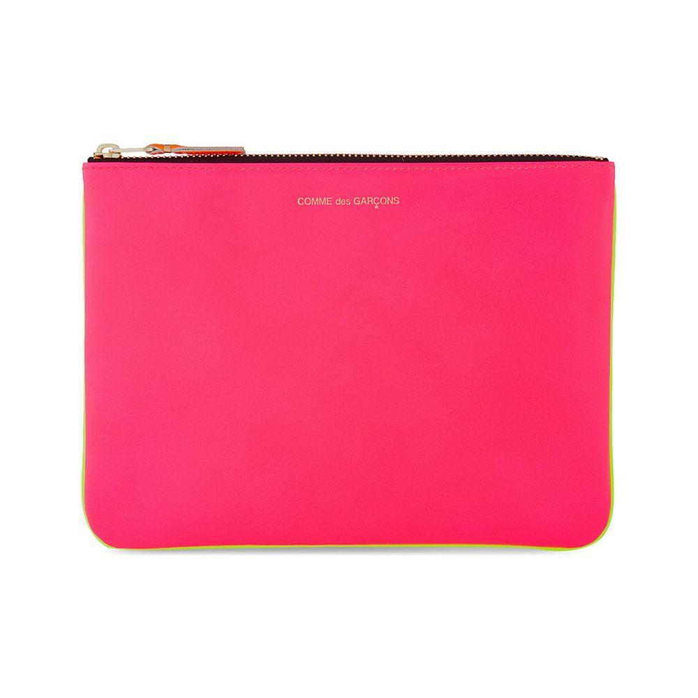 コムデギャルソン comme pocket レディース ポーチ【super fluorescent pouch large】Pink