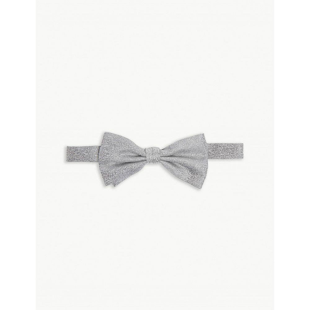 カナーリ canali メンズ 蝶ネクタイ【textured silk bow tie】Lt grey