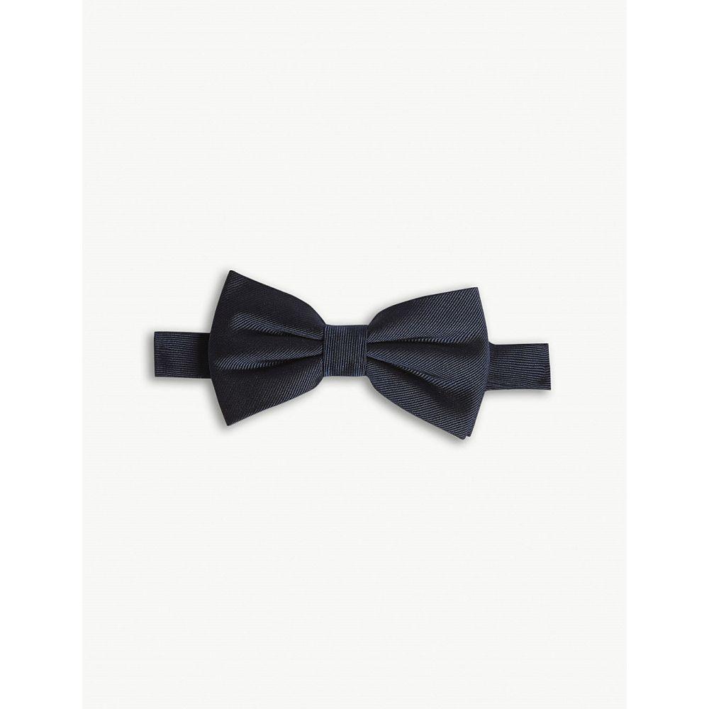 クーパース the kooples メンズ 蝶ネクタイ【woven silk bow tie】Nav