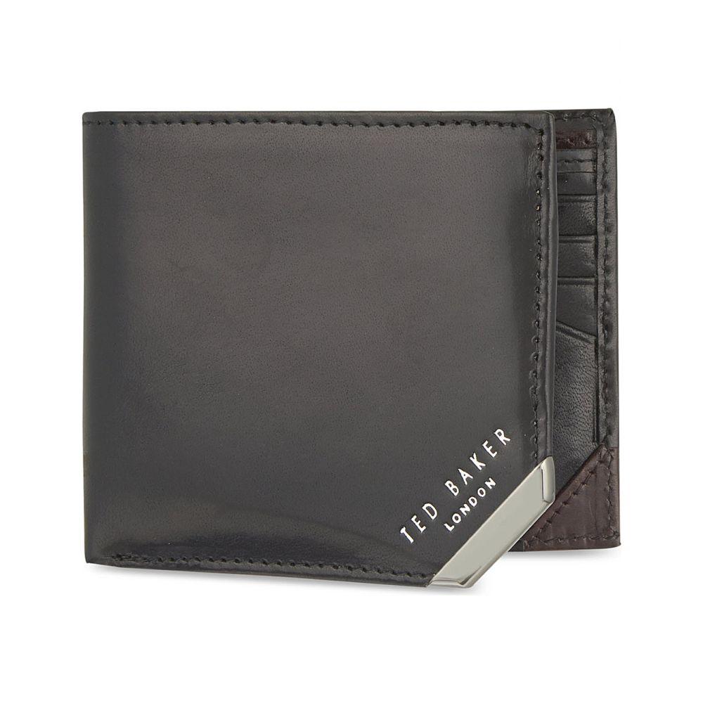 テッドベーカー ted baker メンズ 財布【metal corner wallet】Black