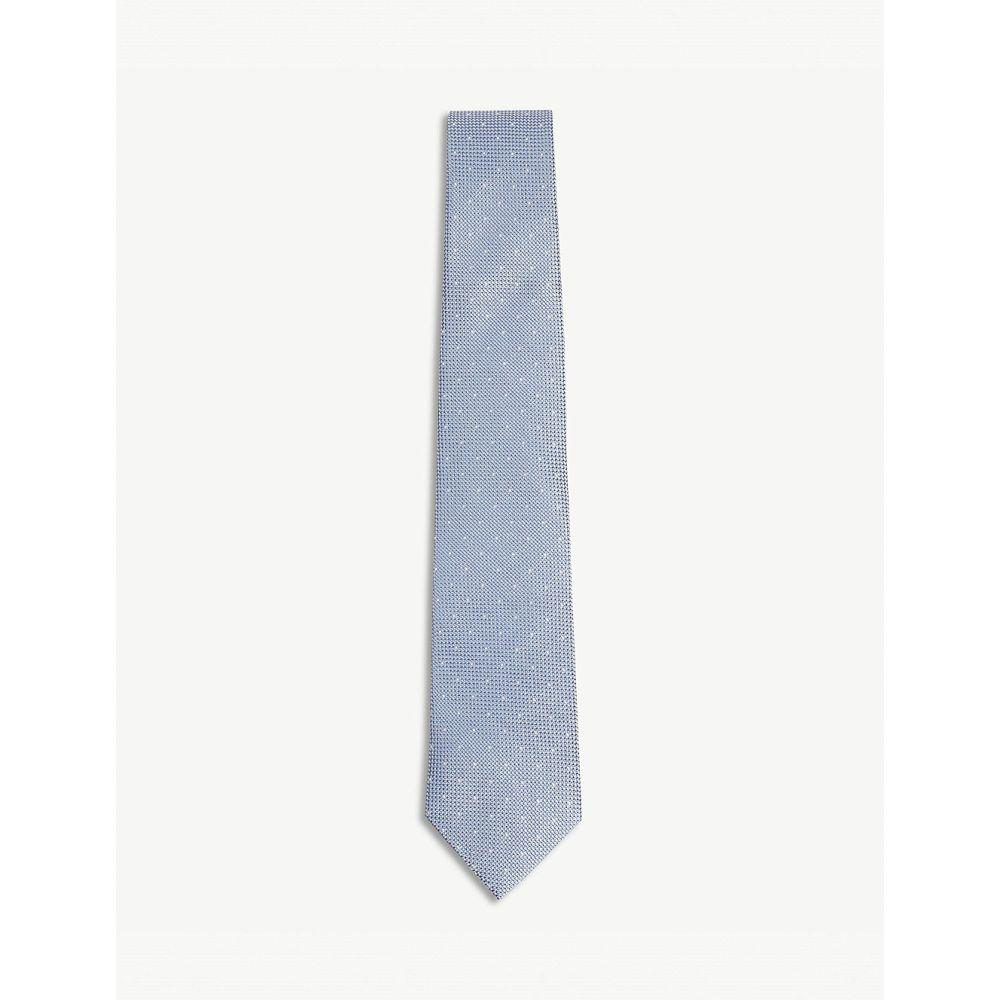 リース reiss メンズ ネクタイ【liam polka dot silk tie】Airforce blue