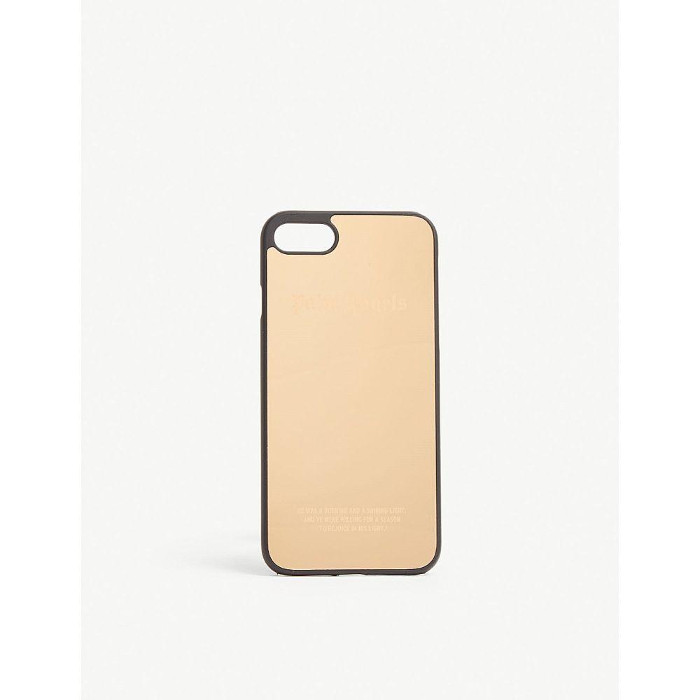 パーム エンジェルス palm angels レディース iPhone (8)ケース【logo metallic iphone 8 case】Gold