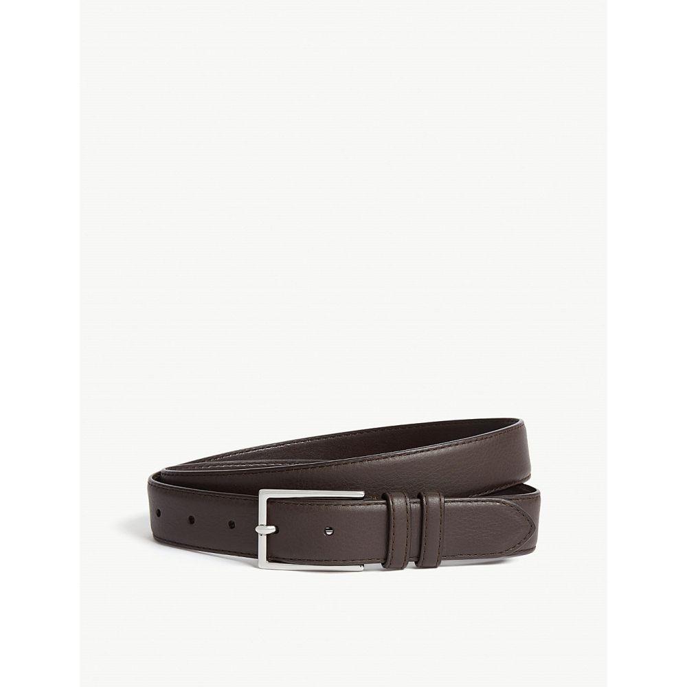 リース reiss メンズ ベルト【martin leather belt】Dark brown