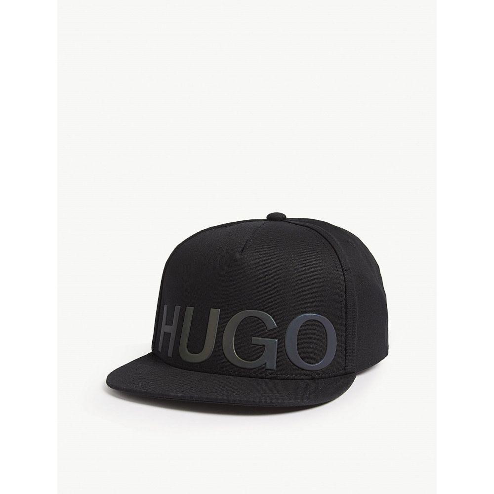 ヒューゴ ボス hugo メンズ 帽子 キャップ【cotton baseball cap】Black