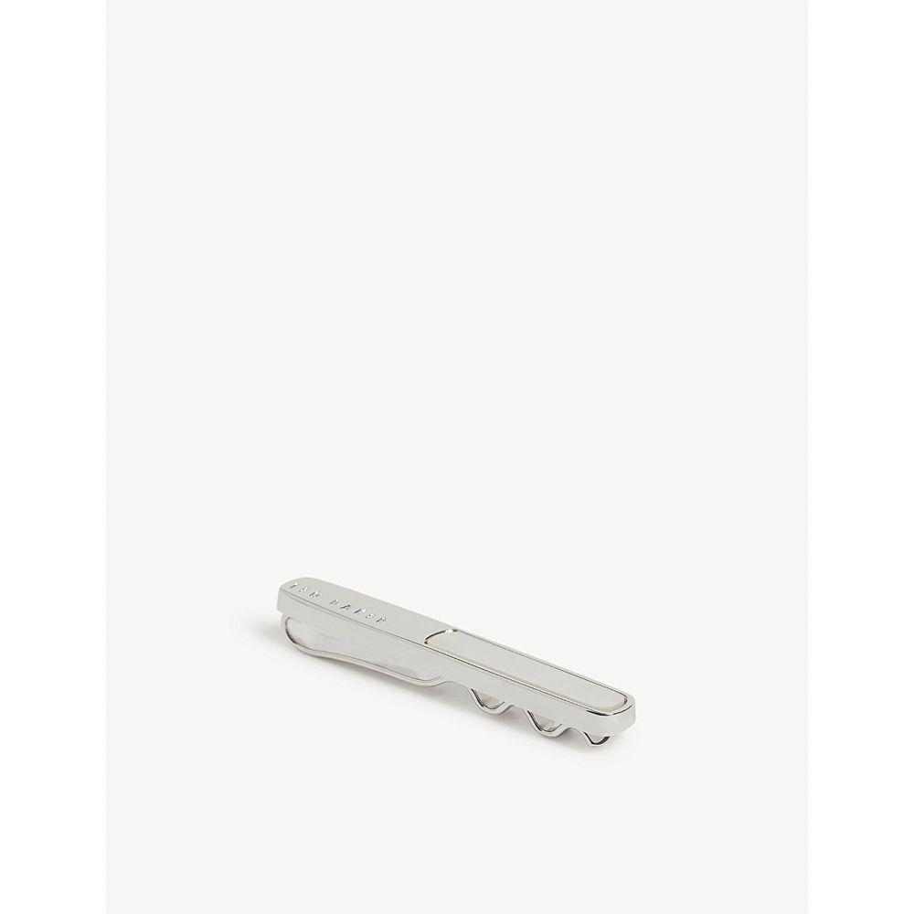 テッドベーカー ted baker メンズ ネクタイピン【tribar semi-precious stone tie bar】White
