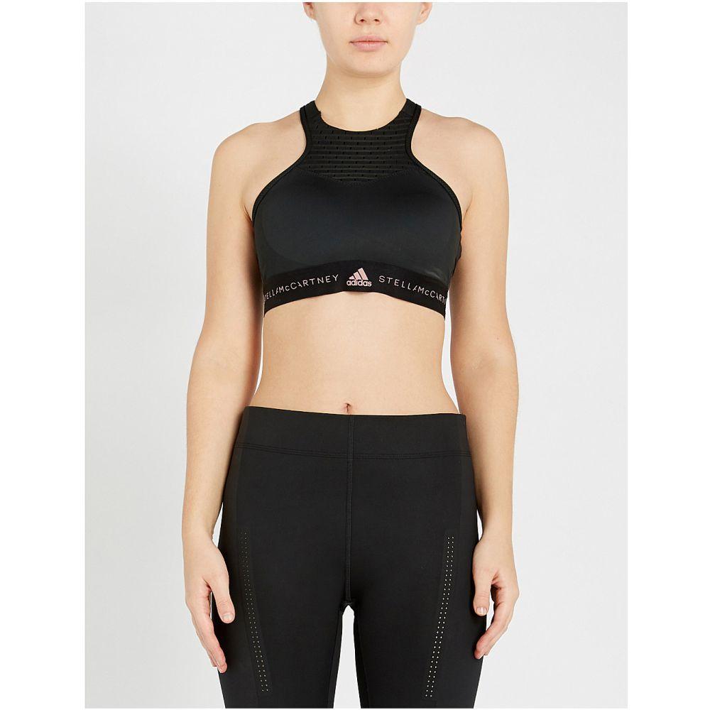 アディダス adidas by stella mccartney レディース インナー・下着 スポーツブラ【hiit racerback stretch-jersey sports bra】Black