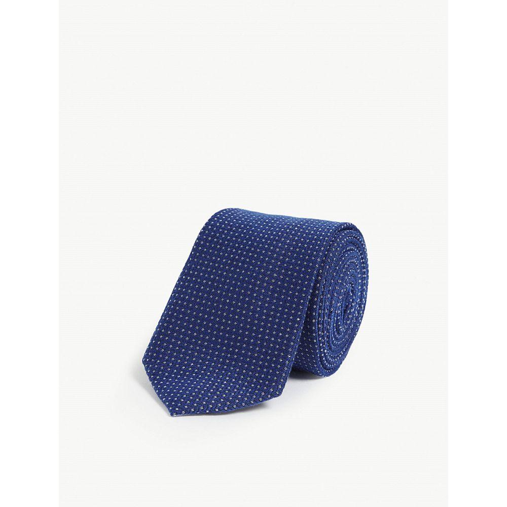 テッドベーカー ted baker メンズ ネクタイ【brune pin-dot woven silk tie】Blue