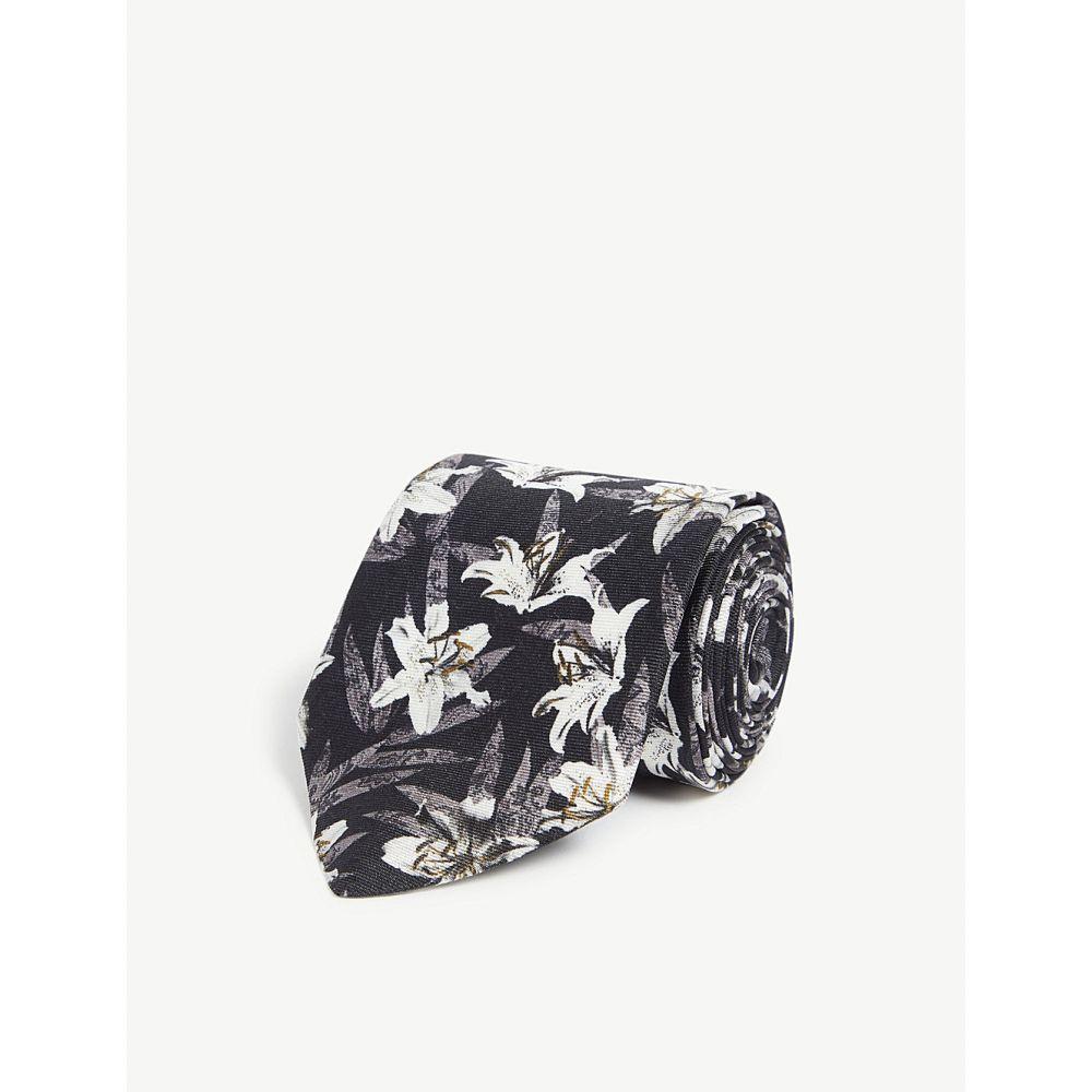 テッドベーカー ted baker メンズ ネクタイ【hect floral silk tie】Black