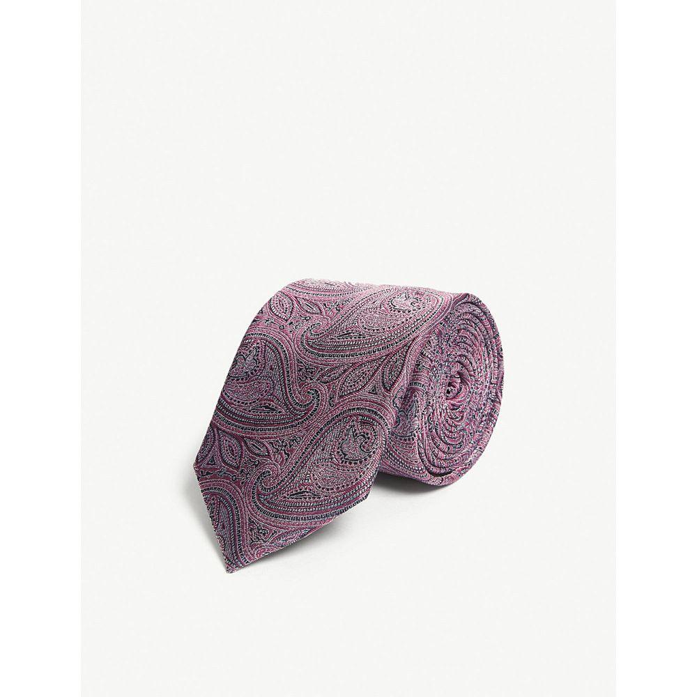 テッドベーカー ted baker メンズ ネクタイ【silk paisley tie】Pink