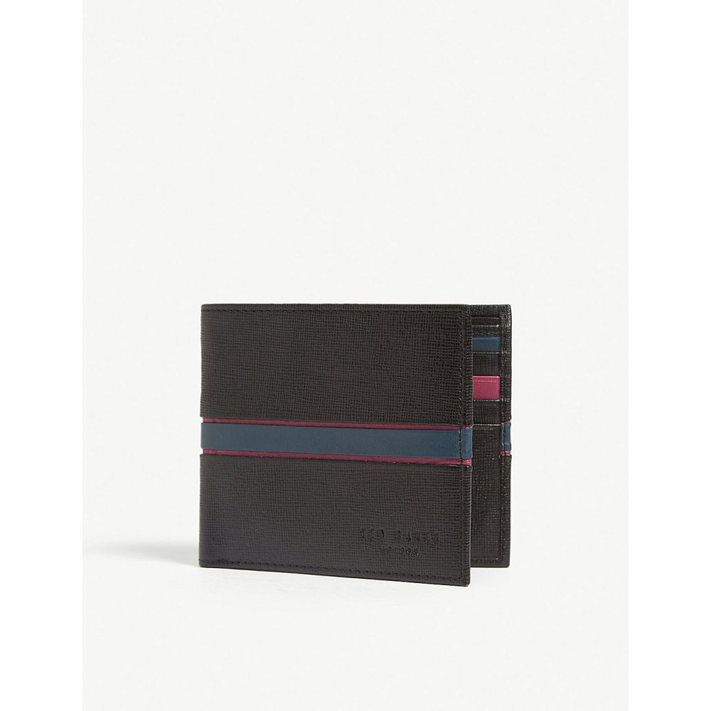 テッドベーカー ted baker メンズ 財布【musta striped leather billfold wallet】Black
