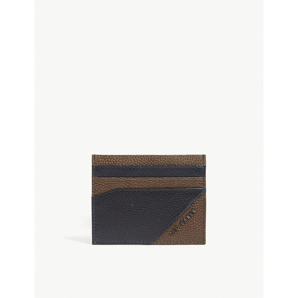 テッドベーカー ted baker メンズ カードケース・名刺入れ【biglow two-tone grained leather card holder】Navy
