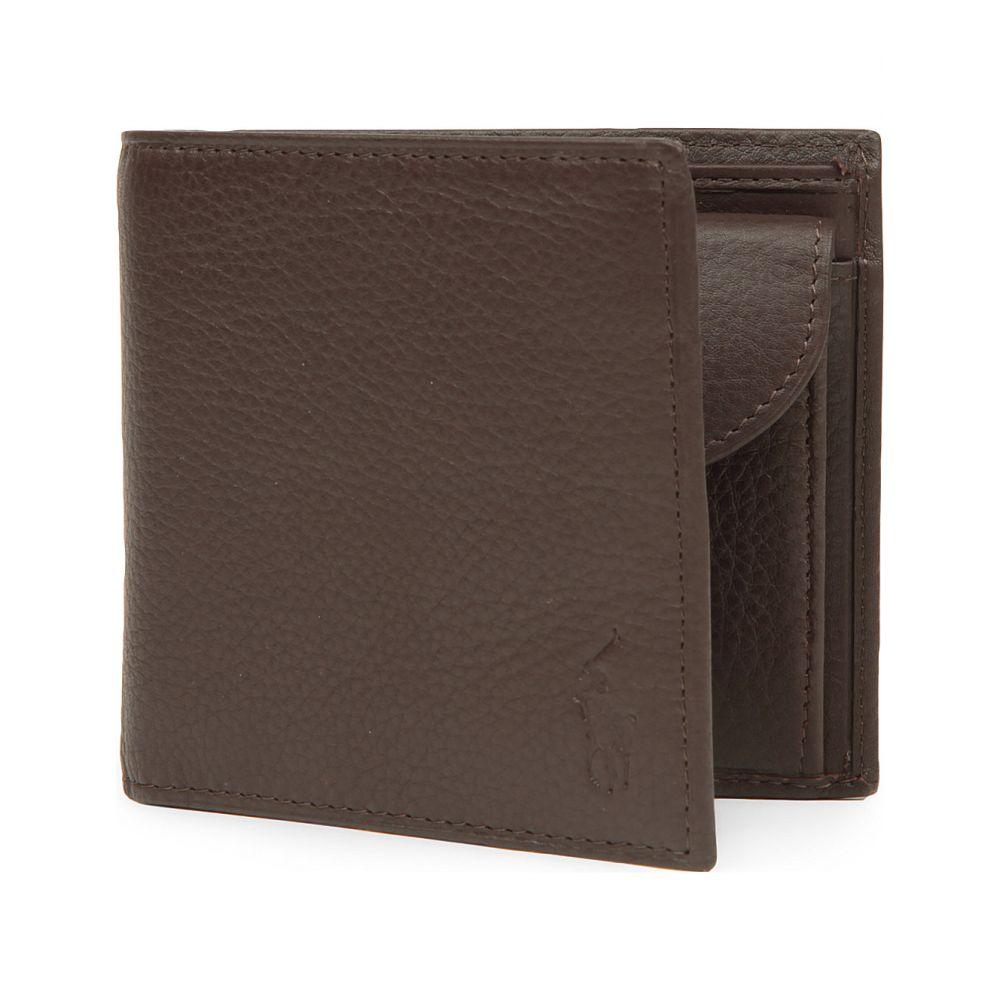 ラルフ ローレン polo ralph lauren メンズ 財布【pebbled leather wallet】Brown